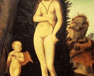 Венера с купидоном, укравшим соты — Лукас Кранах Старший