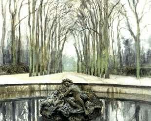 Версаль. Фонтан Бахуса зимой — Александр Бенуа