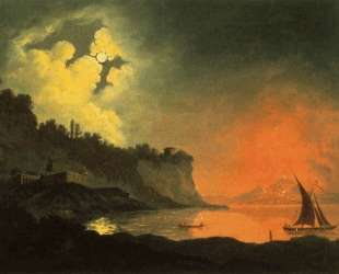 Vesuvius from Posillipo — Джозеф Райт