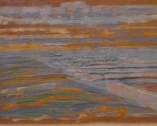 Вид на дюны с пляжем и пирсом — Пит Мондриан