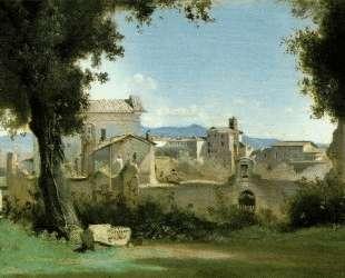 Вид из Фарнезского сада, Рим — Камиль Коро