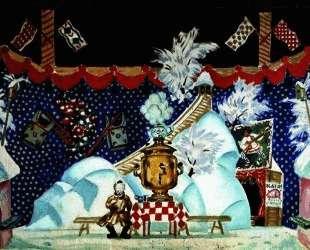 Тула. II действие. Эскиз декорации к пьесе Е. Замятина 'Блоха' — Борис Кустодиев