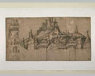 Вид на укрепления Иерусалима — Якопо Беллини