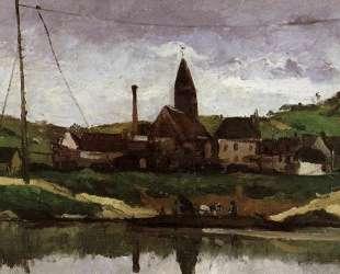 View of Bonnieres — Поль Сезанн