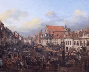 View of Cracow Suburb leading to the Castle Square — Бернардо Беллотто