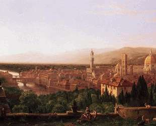 View of Florence from San Miniato — Томас Коул