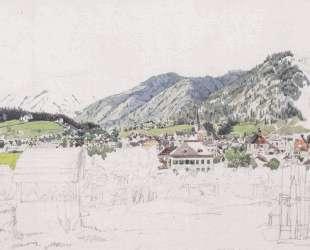 View of Ischl — Рудольф фон Альт