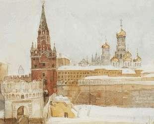 Вид на Кремль зимой — Василий Суриков