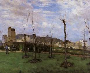 View of Montmartre from the Cite des Fleurs — Альфред Сислей