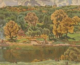 View of Moscow from The Vorobyovy Hills — Константин Юон