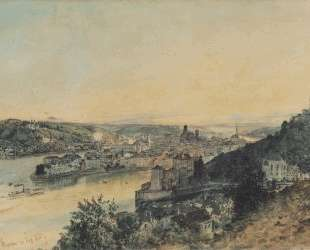View of Passau — Рудольф фон Альт