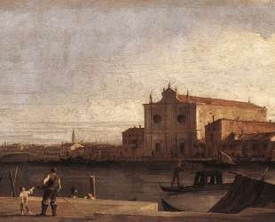 View of San Giovanni dei Battuti at Murano — Каналетто