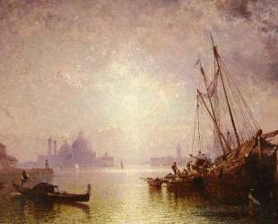 View of St George's, Venice — Франц Рихард Унтербергер