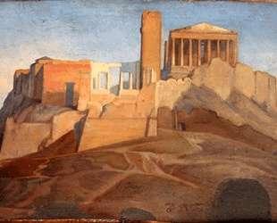 Вид на Афинский Акрополь — Жан Огюст Доминик Энгр