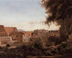 Вид на Колизей из Фарнезских садов — Камиль Коро