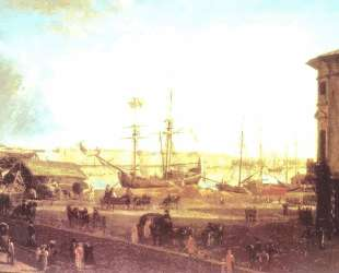 View of the English Embankmant from Visilievsky Island in St. Petersburg — Фёдор Алексеев
