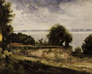 View of the Garden of Madame Aupick, Mother of Baudelaire — Гюстав Моро