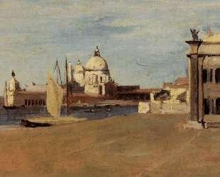 Вид на Большой Канал, Венеция, Рива-дельи-Скьявоне — Камиль Коро