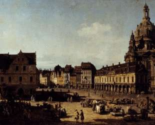 View of the New Market Place in Dresden from the Moritzstrasse — Бернардо Беллотто