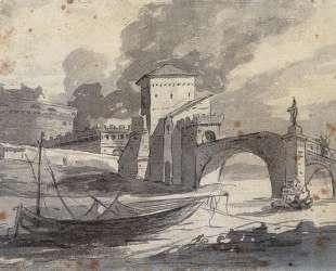 Вид на Тибр и замок Сант-Анджело — Жак Луи Давид