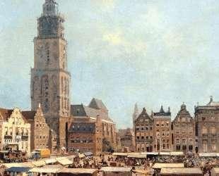 View On Market In Groningen — Корнелис Вреденбург