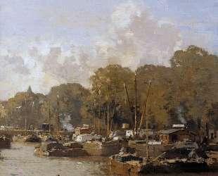 View on the Amstel — Корнелис Вреденбург