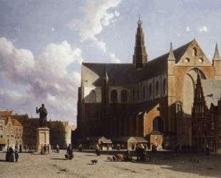 View on the market of Haarlem Sun — Иохан Хендрик Вейсенбрух
