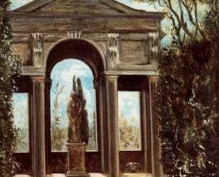 Вилла Медичи, павильон со статуей — Джорджо де Кирико