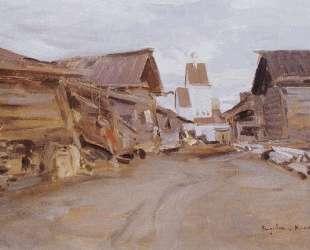 Село на севере России — Константин Коровин