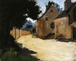 Village Street, Louveciennes — Пьер Огюст Ренуар