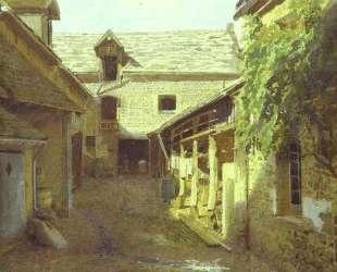 Деревенский двор во Франции — Иван Крамской