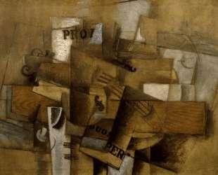 Скрипка и стакан — Жорж Брак