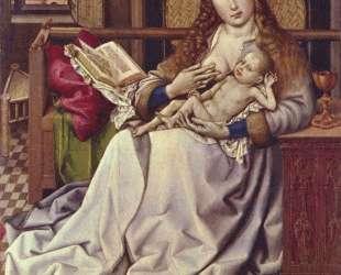 Virgin and Child Before a Firescreen — Робер Кампен