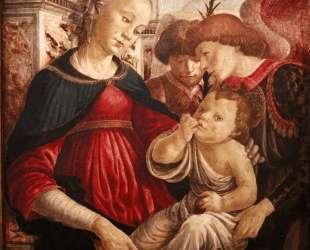 Богоматерь и младенец с двумя ангелами — Сандро Ботичелли