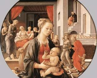 Virgin with the Child and Scenes from the Life of St. Anne — Филиппо Липпи