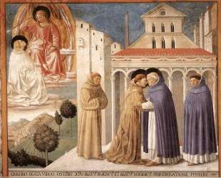 Vision of St. Dominic and Meeting of St. Francis and St. Dominic — Беноццо Гоццоли