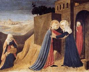 Встреча Марии и Елизаветы — Фра Анджелико