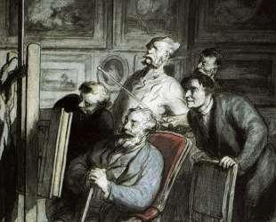 Визитёры в мастерской художника — Оноре Домье