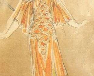 Volkhova, the sea princess (Costume design for the opera 'Sadko') — Михаил Врубель