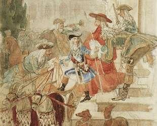 Прогулка Людовика XV в детстве — Карл Брюллов