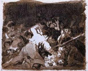 War scene — Франсиско де Гойя