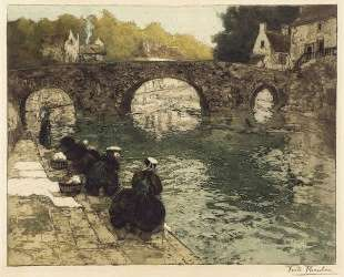 Washerwomen at Quimperle — Фриц Таулов