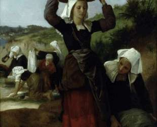 Washerwomen of Fouesnant — Вильям Адольф Бугро