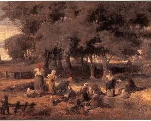 Washing women at the river — Константинос Воланакис