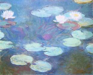 Розовые водяные лилии — Клод Моне