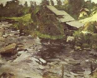 Водяная мельница в Финляндии — Валентин Серов