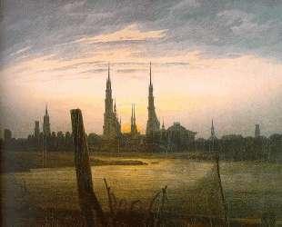City at Moonrise — Каспар Давид Фридрих