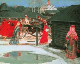Wedding Train in the XVII century, Moscow — Андрей Рябушкин