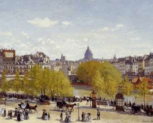 Пристань Лувра, париж — Клод Моне