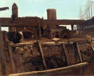 Wharf Scene — Альберт Бирштадт